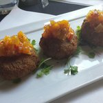 Pork and fennel fried risotto cakes