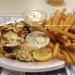 crab cake special at Riverside Pizzeria