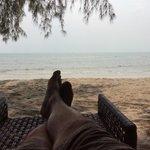 Lazing on the beach