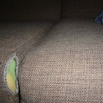 Torn upholstery