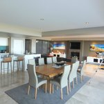 Open plan dining kitchen and lounge area