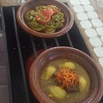 Berbère's Tagine and Tagine of beef, pears and candied oranges