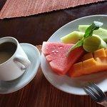 Fresh fruit platter, part of breakfast