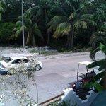 Vista da sacada do quarto - frente para rua