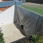 Folien als Staubschutz zum Poolbereich