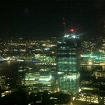 View of central London at night