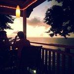 sunset view from Castara Retreats Bar