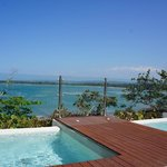 View from infinity pool / Veranda Restaurant