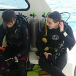 Completed one dive and getting read for another!