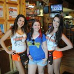 Me and the waitresses at Hooters Of Greenville.
