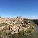 View of the walled city of Toledo