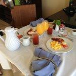 Room service breakfast!! Wow!!