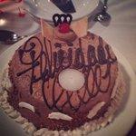 Birthday cake at steak house