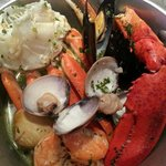 Steamed Shellfish: steamed mussels, clams, snow crab, lobster claw and shrimp