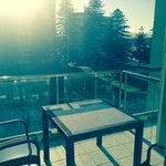 View over balcony