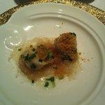 Vapeur de coquilles St Jacques , Vermicelles de riz sauce à l'ail