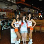 Me and nice waitresses at Hooters Of Long Beach.