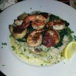 Jumbo Sea Scallops & Shrimp (with mushroom risotto)