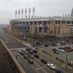 Great view of the home of The Cleveland Indians from our king-room