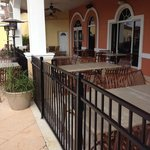 Restaurant outdoor seating area