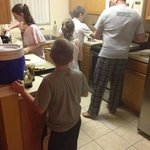 Busy kitchen after a day at the parks!