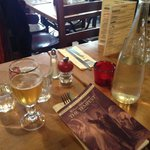 At table