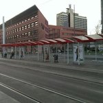 View of the hotel from the tram stop