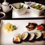 Edamame, Unagi and Spicy Tuna roll