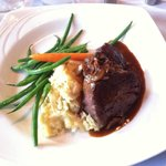 Tenderloin Medallions with garlic mashed potatoes