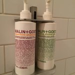 Plenty of lovely peppermint shampoo, eucalyptus shower gel (plus cilantro conditioner too).