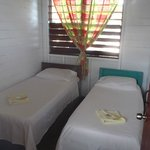 Double beds in second room of Cabin 1.