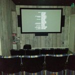 The hotel's cinema (including popcorn maker)
