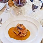 Roasted Veal Loin with Black Truffle sauce