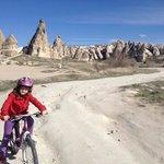 Kayra biking in the vicinity