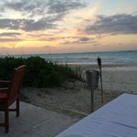sunset at our table