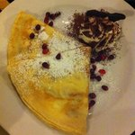 Pancake with cranberry