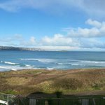 Lovely view across St Ives Bay from bedroom balcony