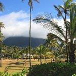 Nevis peak- taken from beach bar