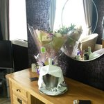 Flowers and champagne downcliffe house organised for my wife thanks