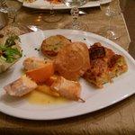 Brochette de saumon aux deux agrumes.