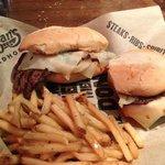 Great sirloin hamburger.