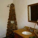 Main floor suite rock shower/bathroom