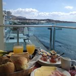 Breakfast at the balcony of our room!
