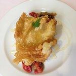 Bacalao tempura con miel