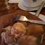 crêpe froment tatin (pommes caramélisées et glace vanille)