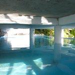 Pool under deck