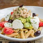 Tuna Tomato Avocado Pasta Salad