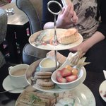 Gluten free afternoon tea with homemade scones and bread. Most delicious!