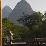 Pitons from living room