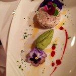 Starter in main restaurant - local wahu fish